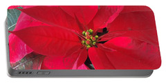 Red Poinsettia Portable Battery Charger
