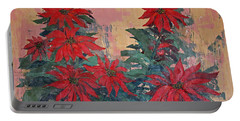 Red Poinsettias By George Wood Portable Battery Charger