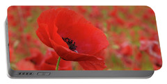 Red Poppies 3 Portable Battery Charger
