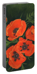 Portable Battery Charger featuring the painting Red Poppies by Anastasiya Malakhova