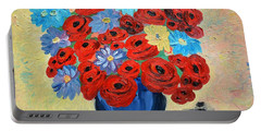 Red Poppies And All Kinds Of Daisies  Portable Battery Charger