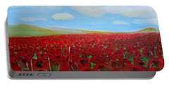 Red Poppies In Remembrance Portable Battery Charger