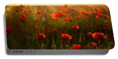 Red Poppies In The Sun Portable Battery Charger