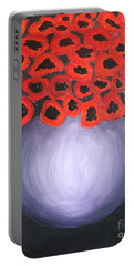 Portable Battery Charger featuring the painting Red Poppies  by Jolanta Anna Karolska