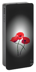 Red Poppies Portable Battery Charger by Lynn Bolt