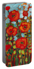 Red Poppy Field Portable Battery Charger