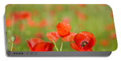 Red Poppy In A Field Of Poppies Portable Battery Charger