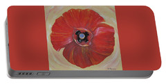 Red Poppy Portable Battery Charger