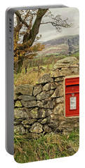 Red Postbox Down A Country Lane Portable Battery Charger