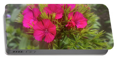 Red-purple Flower Portable Battery Charger