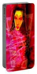 Red Queen Of Hearts Portable Battery Charger