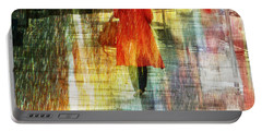 Red Rain Day Portable Battery Charger by LemonArt Photography