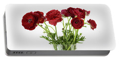 Portable Battery Charger featuring the photograph Red Ranunculus by Kim Hojnacki