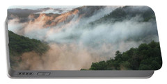 Red River Gorge Kentucky Fog In Mountains At Sunset After A Storm 2 Portable Battery Charger