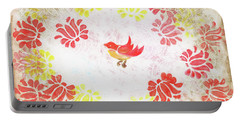 Red Robin Bird Decorative Artwork Portable Battery Charger