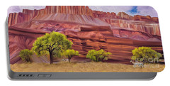 Red Rock Cougar Portable Battery Charger by Walter Colvin