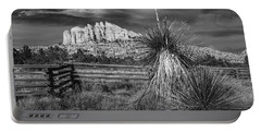 Portable Battery Charger featuring the photograph Red Rock Formation In Sedona Arizona In Black And White by Randall Nyhof
