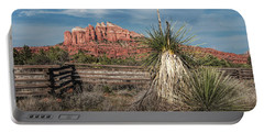 Portable Battery Charger featuring the photograph Red Rock Formation In Sedona Arizona by Randall Nyhof