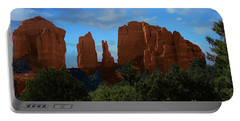 Red Rocks Of Sedona Arizona Portable Battery Charger by Anne Rodkin