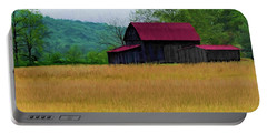 Red Roof Barn Portable Battery Charger by Elijah Knight