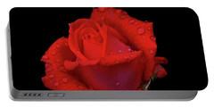 Portable Battery Charger featuring the photograph Red Rose 013 by George Bostian