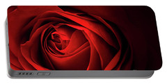 Red Rose Close Portable Battery Charger by Charline Xia