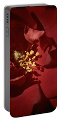 Red Rose Detail Portable Battery Charger by Chris Berry