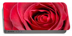 Portable Battery Charger featuring the photograph Red Rose by DJ Florek