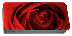 Red Rose Flower Portable Battery Charger