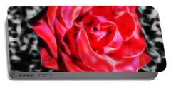 Red Rose Fractal Portable Battery Charger