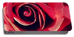 Red Rose Portable Battery Charger by Joseph Skompski