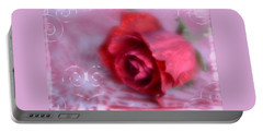 Portable Battery Charger featuring the photograph Red Rose Love by Diane Alexander