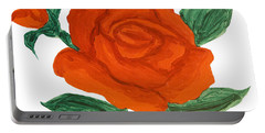 Red Rose, Painting Portable Battery Charger by Irina Afonskaya