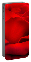 Red Rose Petals Portable Battery Charger