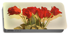 Red Rose Portrait Portable Battery Charger