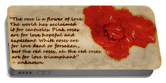 Red Rose Significance Portable Battery Charger
