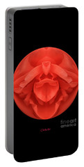 Red Rose Sphere Portable Battery Charger
