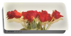 Red Roses Under Glass Portable Battery Charger