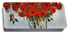 Red Roses Memories Portable Battery Charger
