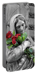 Red Roses Portable Battery Charger by Munir Alawi