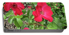 Portable Battery Charger featuring the photograph Red Roses by Stephanie Moore