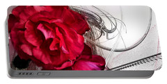 Red Roses Portable Battery Charger by Susan Kinney