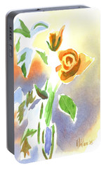Portable Battery Charger featuring the painting Red Roses With Holly In A Vase by Kip DeVore