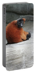 Red Ruffed Lemur Portable Battery Charger