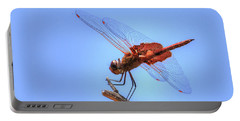 Red Saddlebag Dragonfly Portable Battery Charger