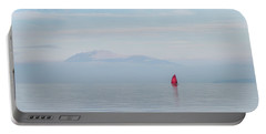 Red Sailboat On Lake Portable Battery Charger