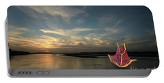 Portable Battery Charger featuring the photograph Red Sails In The Sunset by Carol Lynn Coronios