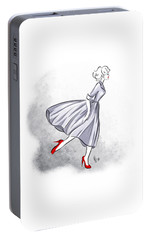 Portable Battery Charger featuring the digital art Red Shoes Red Lips by Cindy Garber Iverson