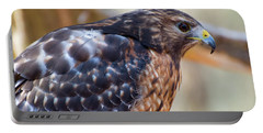Red Shouldered Hawk 2 Portable Battery Charger by Chris Flees