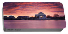 Portable Battery Charger featuring the photograph Red Skies At Dawn by Edward Kreis